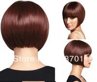 2014 New High Quality Short Straight Auburn BOB Fashion Synthetic Hair Wig for  free shipping