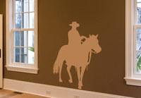 Cowboy Horse Wall Sticker  Wall Art Decal