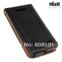 High Quality Genuine Flip Leather Case Cover for Sony Xperia M C1904 C1905 ,MOQ:1PCS free shipping