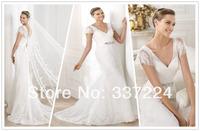 Hot Sale White/Ivory Lace Bridal Wedding Dress Custom Size 2-4-6-8-10-12-14-16++