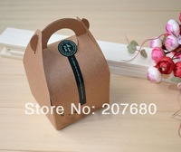 Free shipping by FEDEX to most of countries Single cupcake boxes Gift cake kraft paper cookie boxes Cake box size 10cmX10cmX14cm