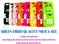 Fun Colorful Lovely M&M Chocolate Case for iPhone 5 5G 5S,Kids Candy Rainbow Beans Silicone Protective Cover 30pcs Free Shipping