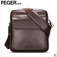 Feger brand male genuine leather messenger bag men cowhide shoulder bag 2014 men's bags commercial man fashion bag