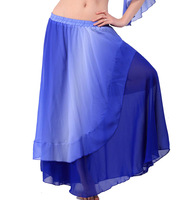 2014 Top Fasion Special Offer Freeshipping Women Bellydance Indian Dance Square Costume Belly Clothes Skirt Gradient Dress Q89