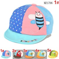 New Design baby hats !!! (5 Color )Industrious bee mixed colors Children's baseball cap boys girls caps child sports hats