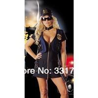Free Shipping 1039 Female police uniform suit role-playing game uniform temptation lingerie wholesale