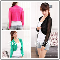 Holiday Hot Sale! New! Fashion Women girl clothes Chiffon knit cardigan small sweater+Free Shipping YF0155