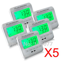 Free Shipping Floureon Digital Room Thermostat Green Backlight LCD Temperature Controller Floor Heating Thermometer 5Sets/Lot