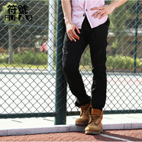 2014 Fashion Man Pants Casual Cotton Pockets Men's Overalls