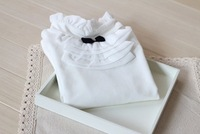2014 new spring & autumn  girl  white  long sleeve t-shirts  very good quality    have age 2-7