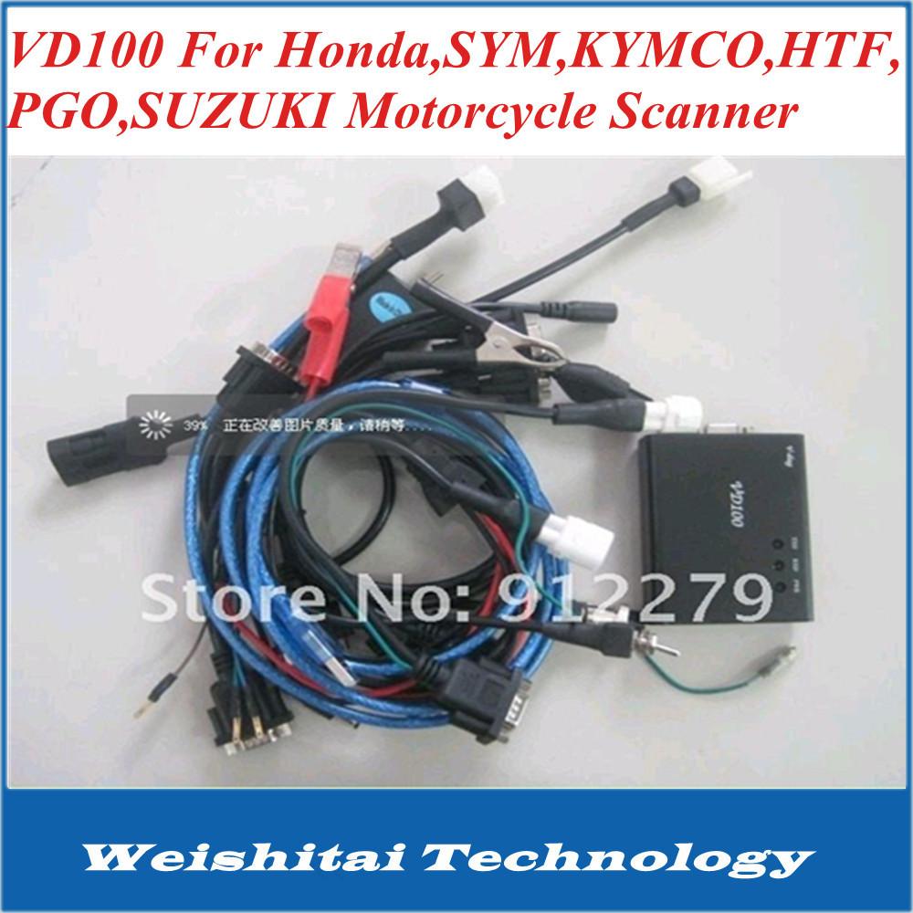 2014 vd100 motorbike diagnosis scanner support for H onda, for YAMAHA, SYM,KYMCO,HTF,PGO,SUZUKI motorcycle scanner repair tool(China (Mainland))