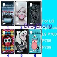 Stylish Jack daniels Tattoo Ariel Little Mermaid cartoon owl paint hard case for LG Optimus L9 P760 P765,10PC/lot