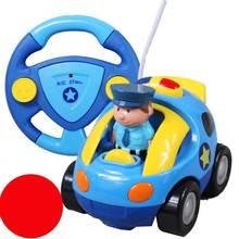 Envío libre Auténtico , coche de la policía de control remoto de la historieta de los niños , los juguetes del bebé coches de control remoto / Música Automotriz / Racing(China (Mainland))