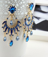 N-Z Best Selling Alloy Ceramic Water Drop Earrings High Quality Chandelier Pendant Women Earring Jewelry E015875