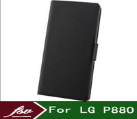 2014 New Doormoon Cover case For LG P880 with easy-Business Flip leather mobile phone case  bag housing + free shipping