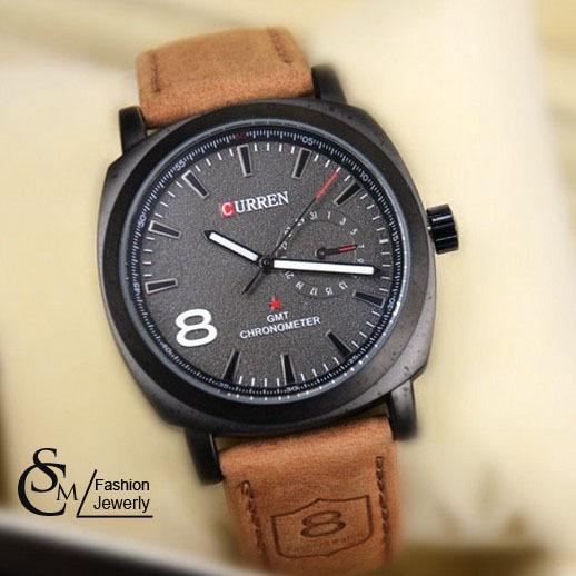Hot-Sale CURREN Waterproof Quartz Business Men's Watch,Men's Military Genuine Leather Watch(China (Mainland))