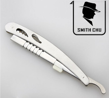 Grátis frete nova Smith Chu Barber aço inoxidável lâminas de barbear emagrecimento faca dobrável Shaver With1pc lâmina 21 cm TD008(China (Mainland))
