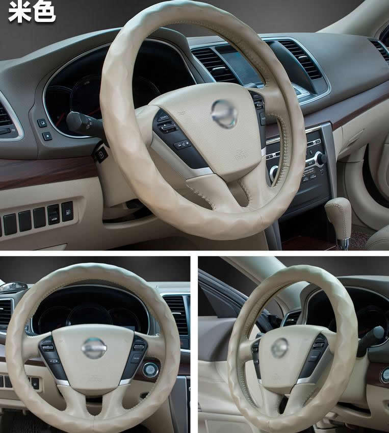 lamb leather car Steering wheel covers For VOLVO C30 C70 XC60 XC90 S80 XC70 V50 V60 V70(China (Mainland))