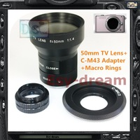 Large 50mm F1.4 CCTV TV Lens + C Mount Adapter for Olympus EP2 EP5 EPL3 EPL2 EPM1 EM5 EM1/GX1 G2 G3 GH2 GH3 GX7 GF5 Camera PA230