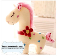 New Arrival! Free shipping cute plush horse toy, love heart horse doll, 2 color option, sweet gift for girls, birthday gift, 1pc