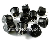 2000pc/lot Black ON/OFF Round Rocker Switch 12V Car Dash Boat