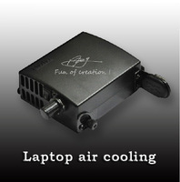 Brand BLUS laptop cooler air cooling radiator full metal intelligent temperature control variable speed drop/free shipping