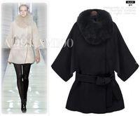 womens Raccoon Fur Collar lining long jacket coat hoody Padded Windbreaker parka