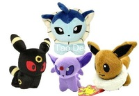 "Free shipping 4pcs/set Pokemon Center Plush Eevee & Umbreon & Espeon & Vaporeon Figure Doll Soft Toy 12cm 5"" - Best Price"