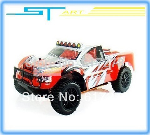 Hot sales rc nitro car 1/10th 4WD Nitro Engine R/C short-course Off-Road Buggy SST-1980 2.4G rc car RTR fast ship remote control(China (Mainland))