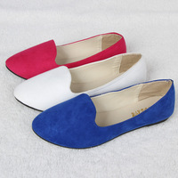 2013 Hot Sale Women's Shoes Flats Quality PU Leather Female Shoes Blue White Red Color Soft Round Toe Flats Sapatos J0437