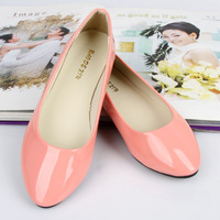 Women's Flat Shoes Quality PU Leather Pointed Flats Female Shoes Princess Candy Color Lady Shoes Sapatos Femininos J0421