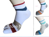 Free shipping jacquard cotton socks with heel toe socks prevent beriberi antibacterial cotton toe socks for men and women