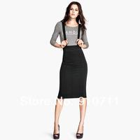 2014 new Pencil skirt adjustable suspenders after the elastic strap bust skirt short skirt 1set/lot free shipping