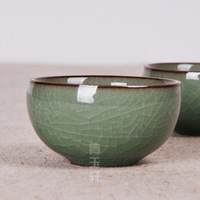 Longquan celadon ceramic purple clay tea cup kung fu tea cup small tea cup