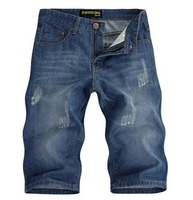 2014 new men's denim shorts / men's summer denim shorts / men's denim shorts pants thin models wholesale
