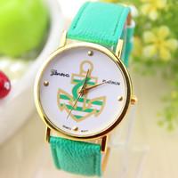 4 colors New Fashion Leather GENEVA Watch For Ladies Women Dress Watch Quartz Watches 1pcs/lot
