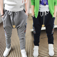 Wholesale Spring 2014 Fashion Clothing Zipper Boy Male Child Sports Pants Harem Pants Trousers d-k238Free Shipping