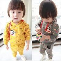 2014 spring new children's clothing for boys and girls small mouth monkey suit small skull sweater