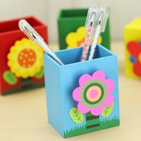 Multifunctional wooden flower pen stationery desktop storage 10