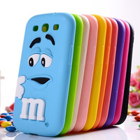 For samsung galaxy s3 case M&M'S chocolate candy rubber silicone back cases covers for samsung i9300 9300 ,Free shipping