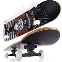 Black mount paint four wheel skateboard strengthen skateboard professional double adult skateboard