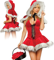 Little Red Riding Hood Christmas girl sex temptation role playing sex costumes 8715-2 , free shipping