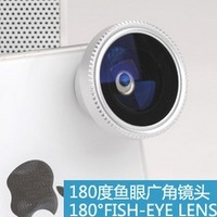 200pcs/LOT New portable Detachable Fisheye lens for iPhone 4 4S maganetic fish eye Lens for iPhone 5 5S iPod iPad samsung