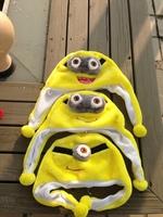 Free Shipping 10pcs/Lot Super Cute Despicable Me Minions Jorge Cosplay Soft Plush Kids Cap Hat Wholesale EW-H-AP-013