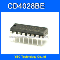 Free Shipping 50pcs/lot CD4028 CD4028BE HEF4028 HCF4028  DIP-16 Decimal BCD Decoder CD Logic IC