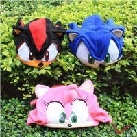 Free Shipping New  Hedgehog Plush Hat Black Cosplay Cap EW-H-AP-015