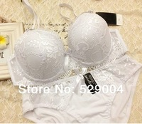 New 2014 VS French Embroidered Lace Bra Sets Sexy Women's Underwear Set Push Up ABC Bra Set  Bra and Panty Set,Female Brassiere