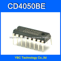 Free Shipping 100pcs/lot CD4050 CD4050BE Six-inverting Buffer / Converter DIP-16 CD Logic IC