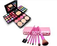Colour makeup disc 24 color eye shadow plate+8 the lipstick+4 color blush+3 powdery cake+7 the brush sets makeup set combination
