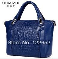 Omega 2014 the new fashional genuine leather handbag crocodile print head layer cowhide single shoulder bag free shipping B-66
